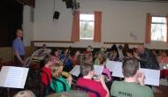 L'ensemble des jeunes de l'Harmonie sous la direction de Georges Albrecq